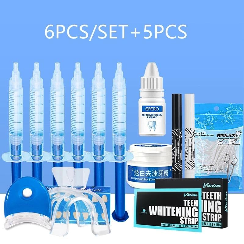 Teeth Whitening Stick Dental Floss Picks Dental Peroxide Teeth Whitening Pen Powder Kit Teeth Toothpicks Stick 11PCS/SET