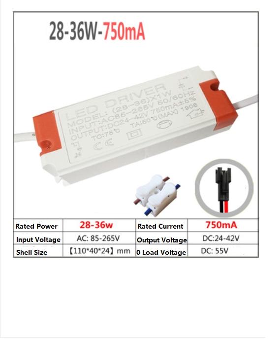 Ballast Resistor Constant Current Driver Mini Drive Power Spotlight 5 Ceiling lamp 7 Ballast 28 W 36 W 750mA