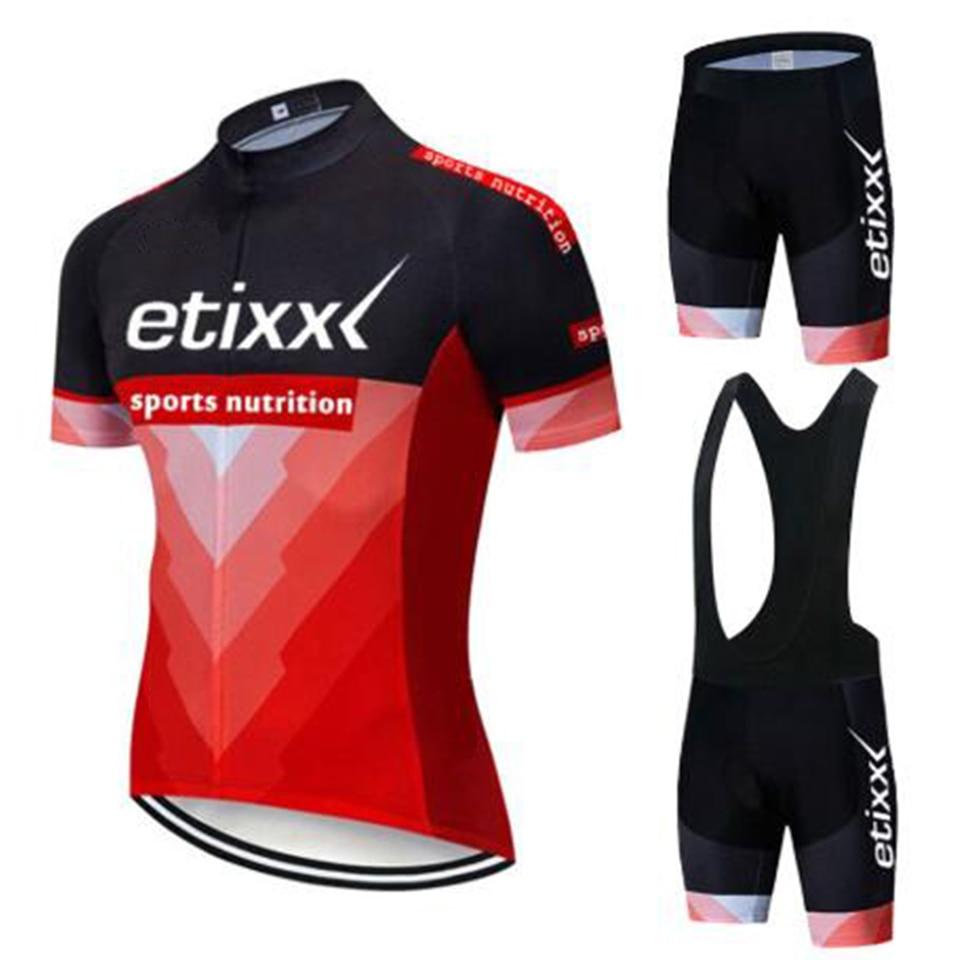 2019 etixx Pro équipe été cyclisme maillot ensemble vélo vêtements respirant hommes à manches courtes chemise vélo cuissard 20D Gel pad