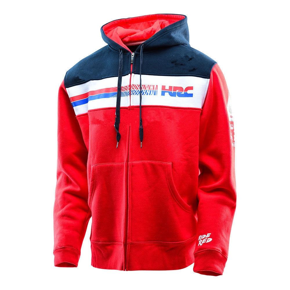 Hot Sales!Motorcycle Hoodie For Honda Motorsports Motorbike Casual Sweatshirt Mens Red Outdoor sports With zipper