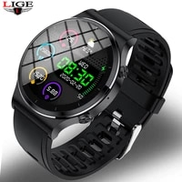 2020 lige new bluetooth call smart watch sports fitness heart rate blood pressure waterproof music smart watch for ios android