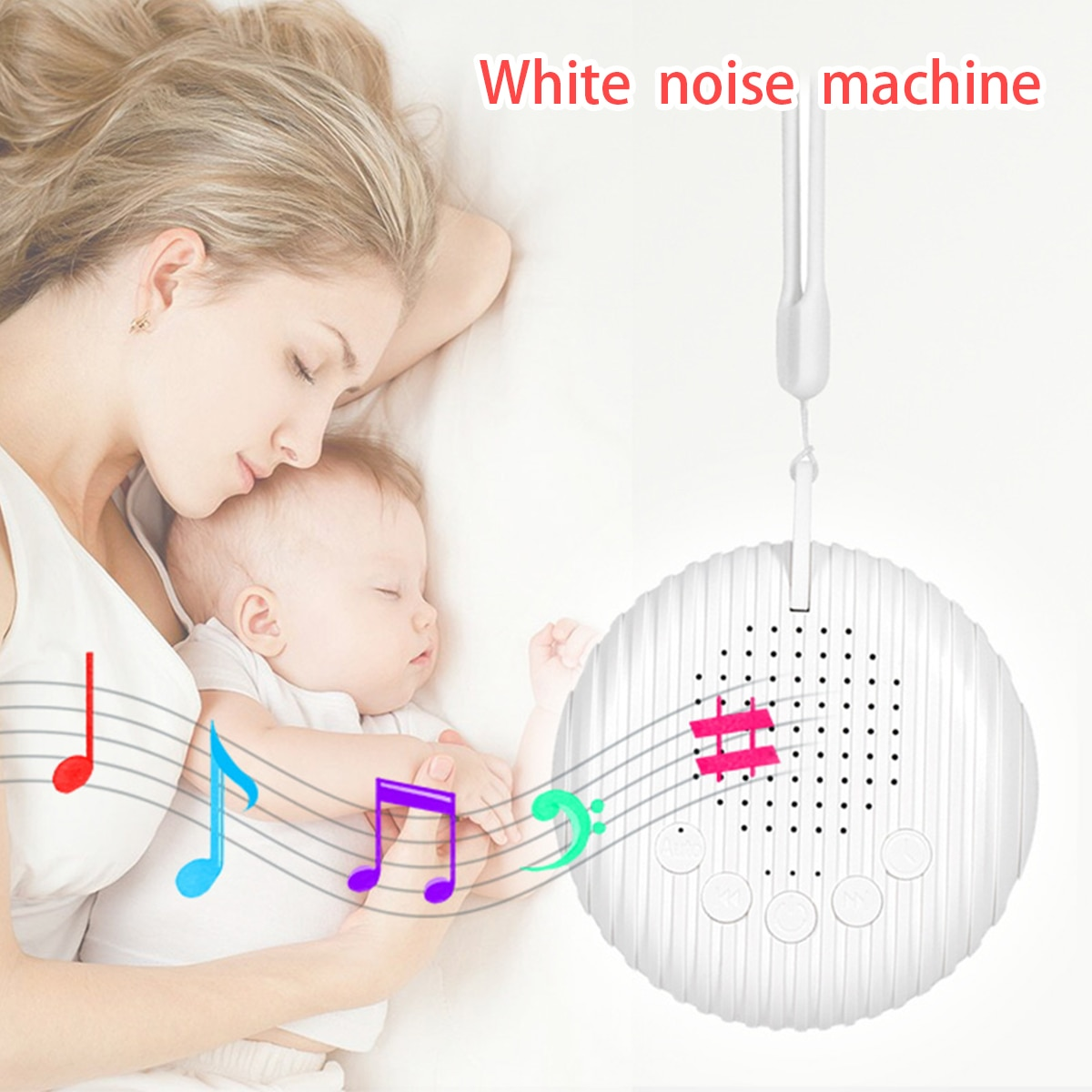 White Noise generator for Newborns baby sleep machine sound of Nature Relaxing Sounds portable for K