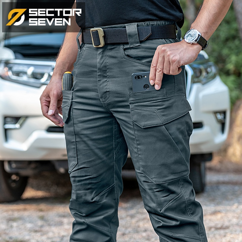 2021 New IX11 Tactical Pants Men's Cargo Casual Combat SWAT Army Active Military Work Cotton Male Trousers