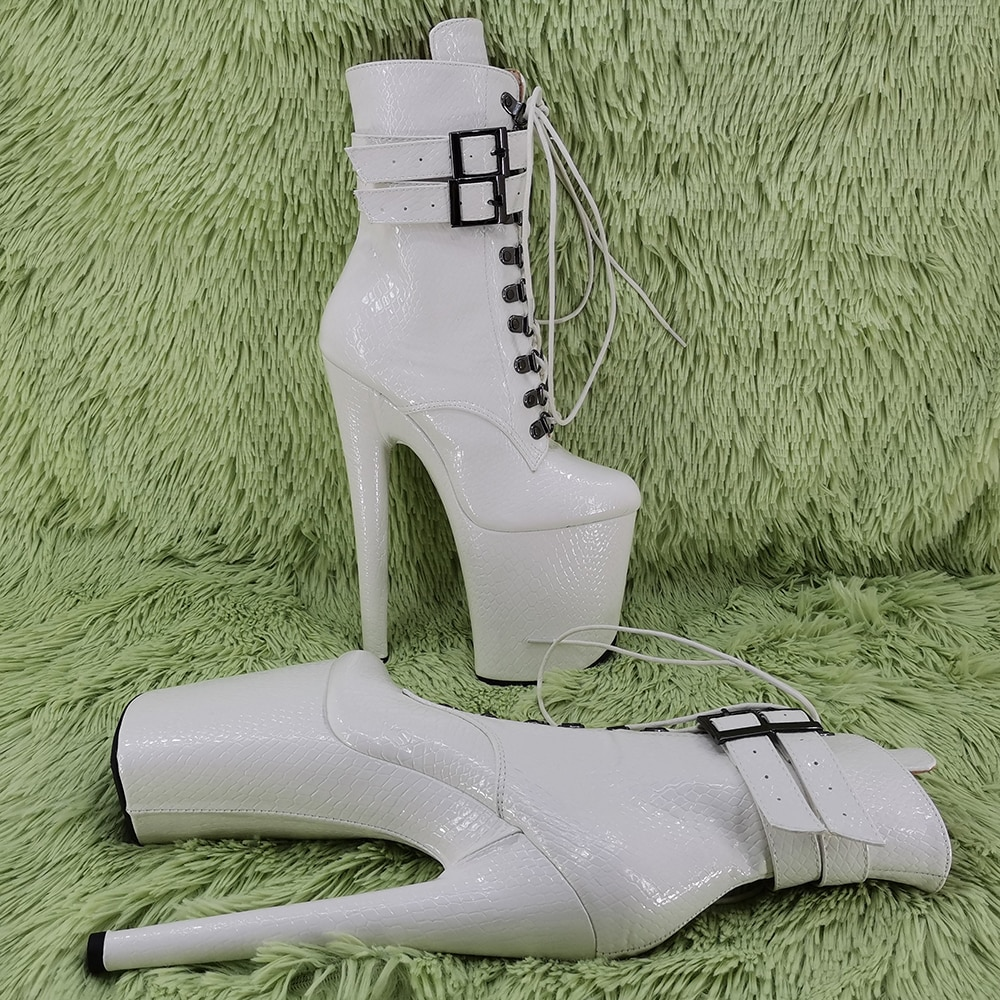 Leecabe  20CM/8inches  High Heel platform Pole Dance boot  fastion shoes