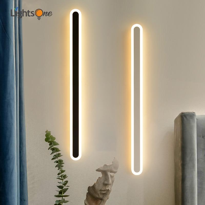 شريط طويل غرفة نوم الجدار ضوء الشرفة بسيطة الحديثة LED الديكور مصباح لغرفة المعيشة خط الجدار مصباح