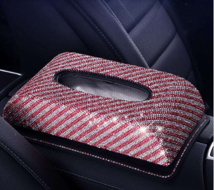 fashion  car tissue box napkin holder diamond painting tissue box car tissue holder tissue dispenser  for car PZJH054