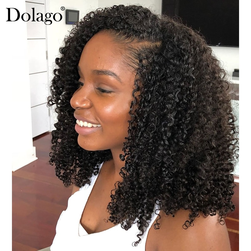 Afro Kinky Curly U Part Wig 250% Density Human Hair Brazilian Virgin Hair Upart Wigs 3b 3c Kinky Curly For Black Woman Dolago
