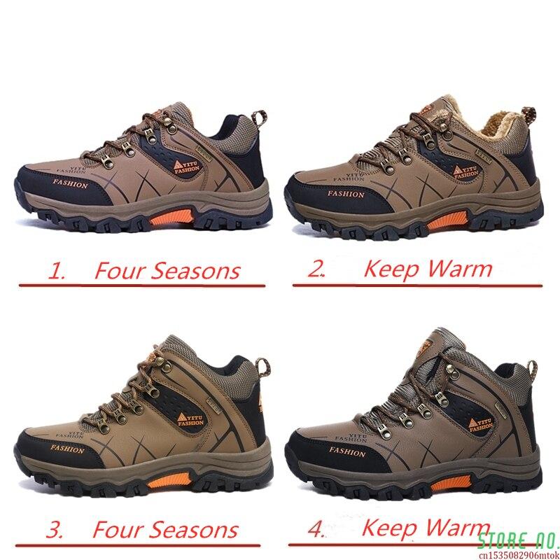 Superior dos Homens Botas de Trekking à Prova Sapatos de Escalada de Montanha Novo Tamanho Grande Outono Inverno Alta Caminhadas Dwaterproof Água 47