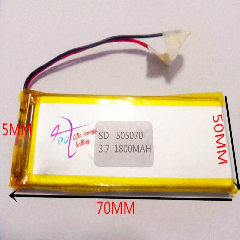 Beste batterie marke 3,7 V tablet 505070 055070 drahtlose sender 1800mAH eBook