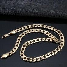 Punk Hip Cuban Link Gold Chain Rapper Men Necklaces Street Fashion Popular Metal Alloy Long Chain Decorative Jewelry Present
