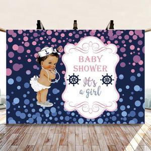Костюм пирата для девочек Baby Shower фон для фотосъемки с узором в горошек, фон для фотосъемки принцессы фон для фотосъемки на день рождения Домашний декор