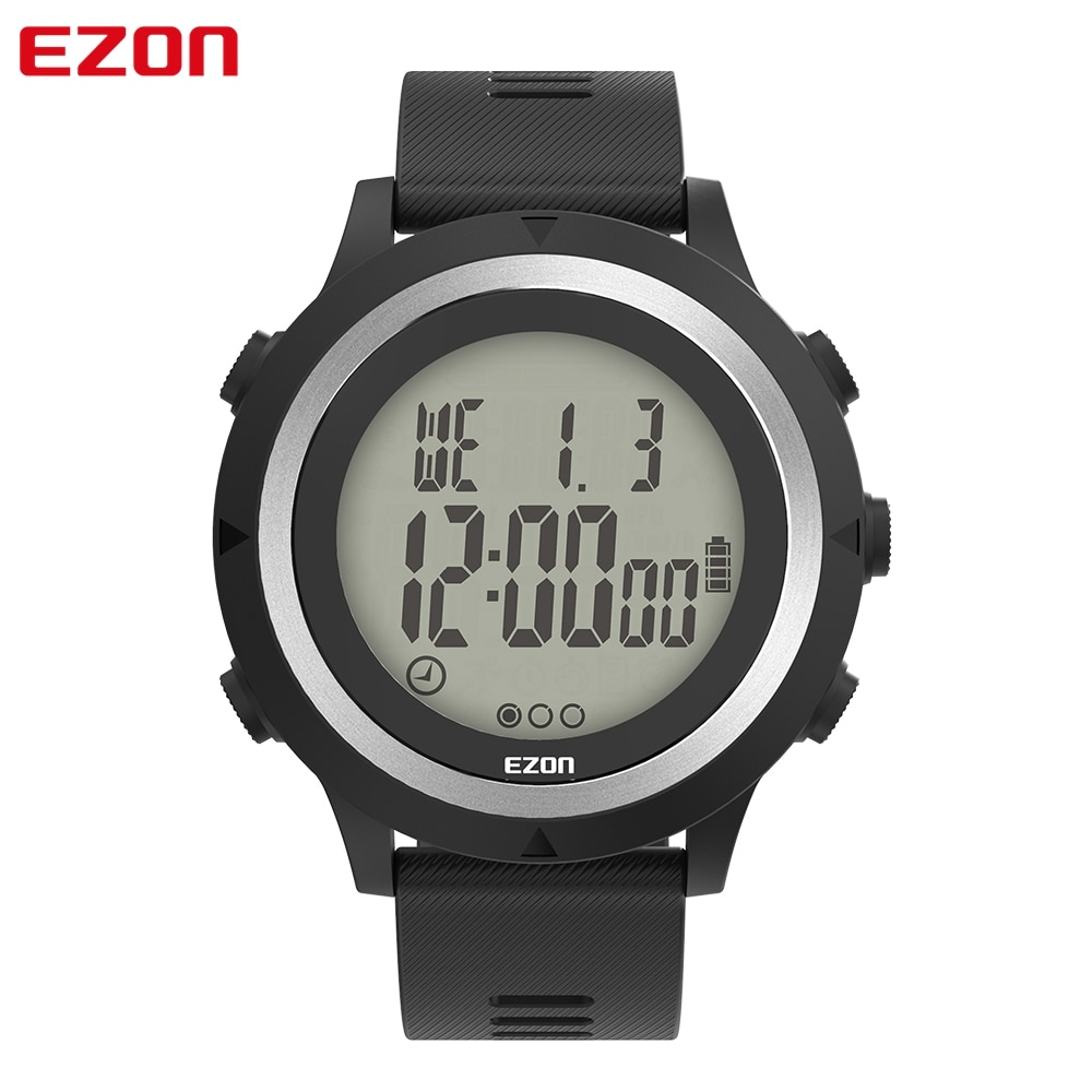 EZON T909C GPS Men's Digital Sport Watch with Optical Heart Rate Monitor Pedometer Calorie Counter C