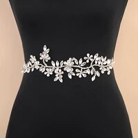 trixy sh239 high quality wedding dress belt flower bridal belt rhinestone belt wedding bridal sash belt silver diamond belt