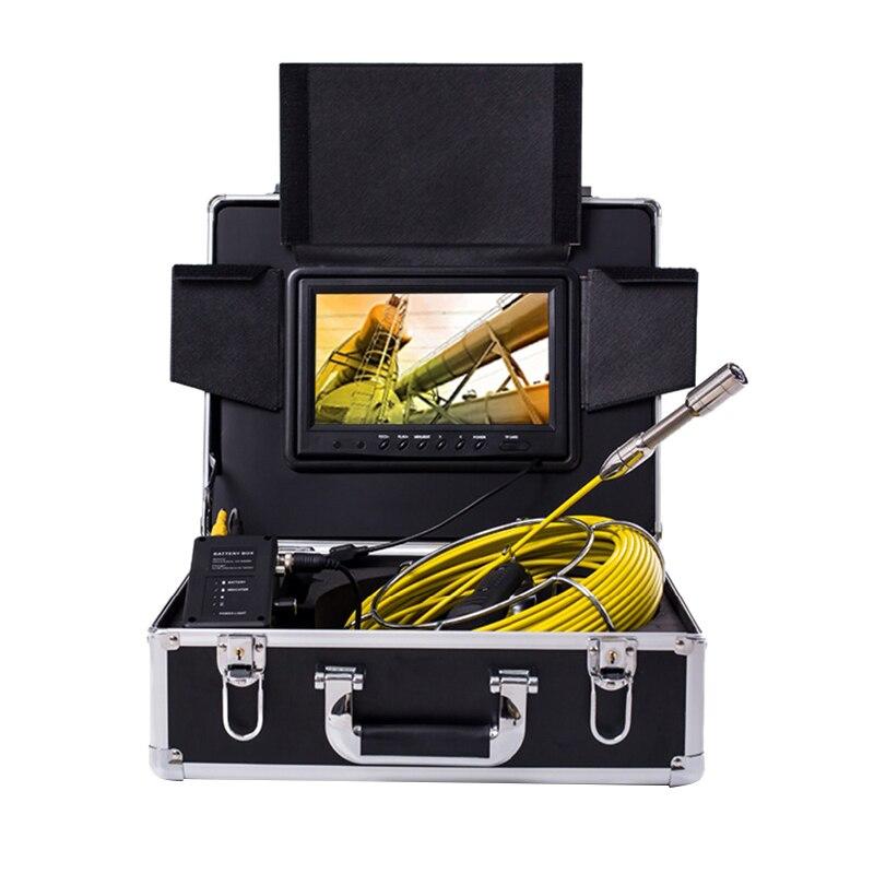 Cámara inalámbrica de inspección de tuberías Wifi, tubería de drenaje de alcantarillado endoscopio Industrial 9 pulgadas Monitor Hd 1000Tvl Snake cámara de vídeo S