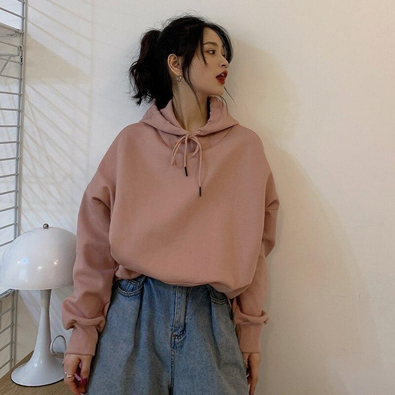 2020 Sweatshirt Women Hip hop Oversized Long Sleeve Streetwear Femme Tops Hoodies Autumn Pink Clothes Ropa De Mujer