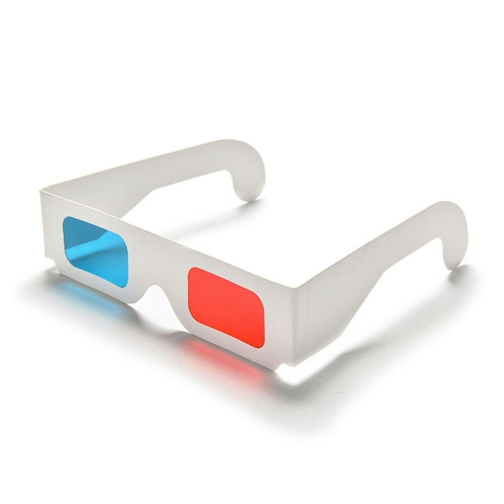 Kuulee, 10 unidades/lote, papel Universal, Anaglyph, 3D, gafas de papel, 3D, vista Anaglyph, rojo/azul, cristal 3D para vídeo de película EF r60