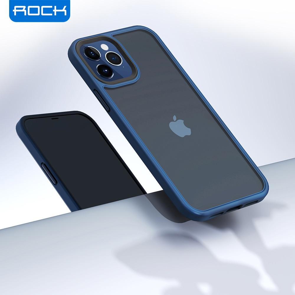 AliExpress - ROCK Translucent Case for iPhone 12 Mini Cover Luxury Anti-knock Matte TPU Bumper Case for iPhone 12 Pro Max PC Back Cover Capa