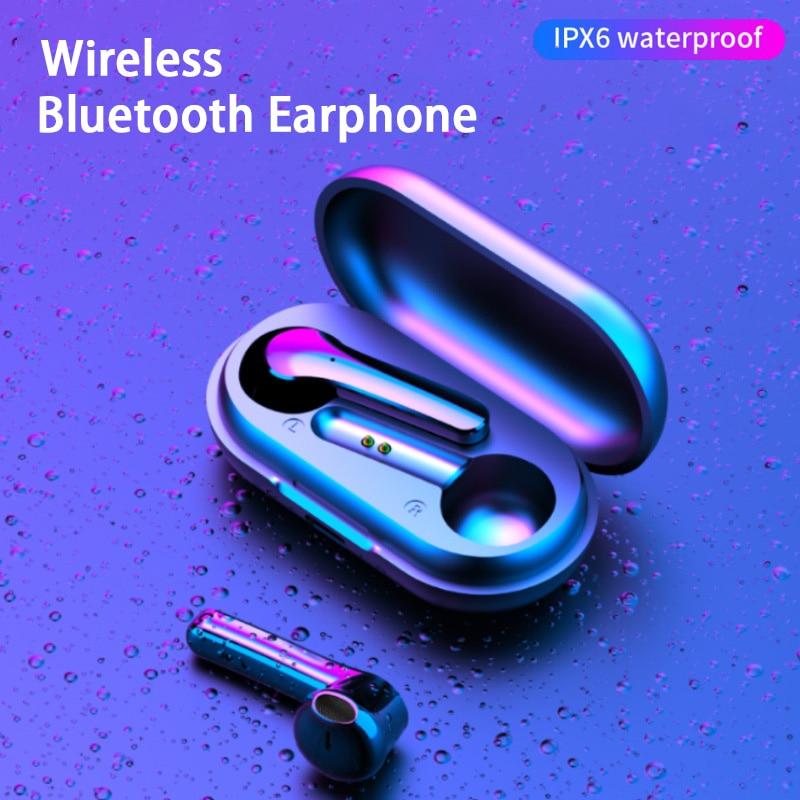 oksj mini bluetooths earphone earbuds wireless bluetooths tws in ear earbuds with charging case v5 0 bluetooth earphones headset Y18 TWS Wireless Bluetooth Earphones Headset Headphones 9D Stereo In-Ear Earbuds Wireless Earphone with Mic for Smart Phone