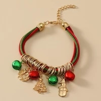 new fashion candy color tassel pendant bracelets for women diy creative multiple circle christmas charm bells bracelet jewelry