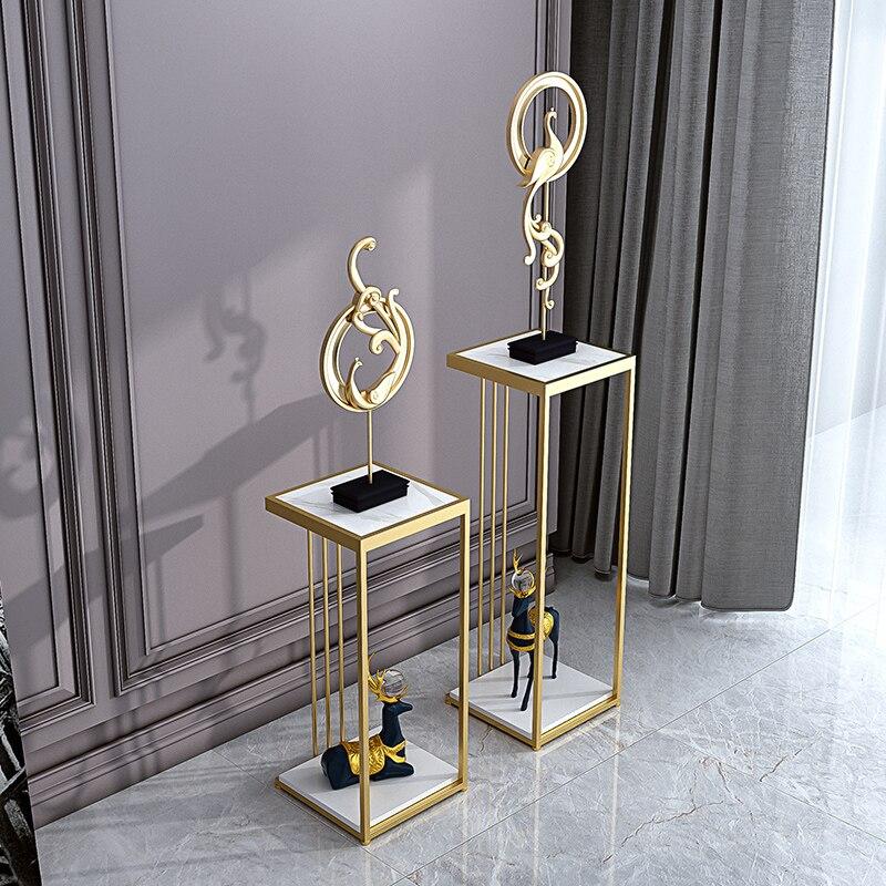 Exquise et belle nordique fleur support marbre table lumière de luxe simple moderne salon décoration fleur table en acier fr