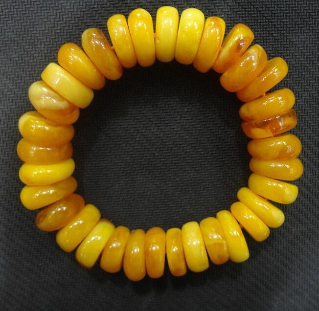 El Tíbet pulsera Mila Mala oración grano ámbar collar de resina pulsera pequeña