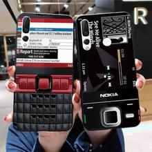 HPCHCJHM Retro phone Black Soft Shell Phone Case Capa for Huawei Honor 30 20 10 9 8 8x 8c v30 Lite v