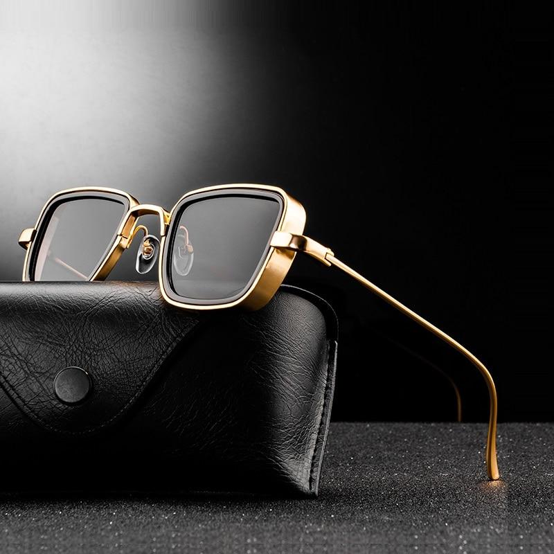 aliexpress - New Vintage Metal Steampunk Sunglasses Men Women Square Sun Glasses For Men Women Stylish Retro Brand Shades Male Female UV400