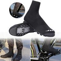 Waterproof Windproof Fleece Warm Cycling Lock Shoe Covers Reflective Bicycle Overshoes Winter Road Bike Shoe Cover Protector