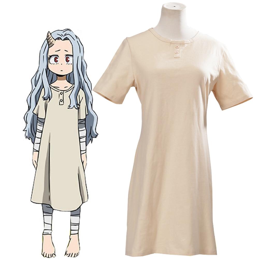 Anime My Hero Academia temporada 4 Eri Cosplay disfraz Boku no Hero Cosplay vestido de fiesta con peluca larga gris