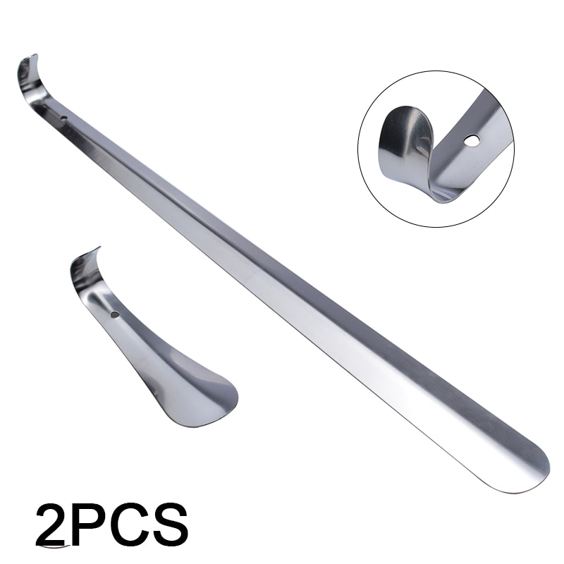 AliExpress - 2Pcs 16x52cm Stainless Steel Shoehorn Long Short Metal Stable Stainless Steel Shoe Puller Shoe Accessories