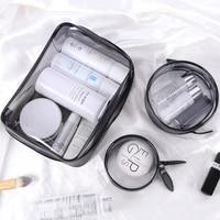 womens travel cosmetic storage bag large capacity pvc waterproof cosmetic bag multifunctional zipper transparent toiletry bag