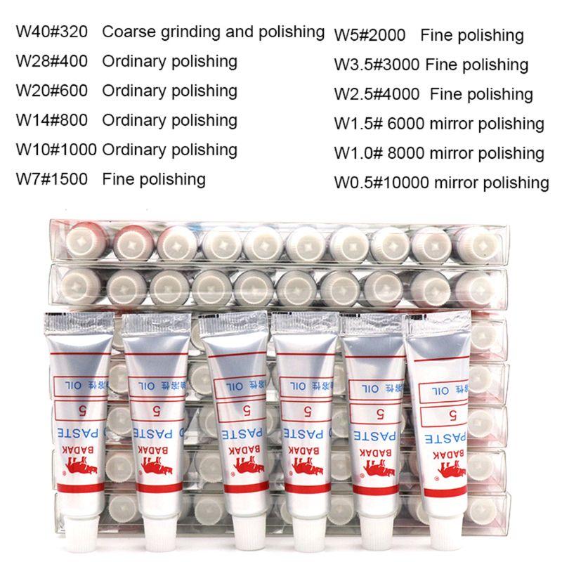 12 stücke Diamant Polieren Läppen Paste Verbindung Spritzen W 0,5 ~ 40 Mikron Glas Metall Schleifen Polieren Schleif Werkzeuge