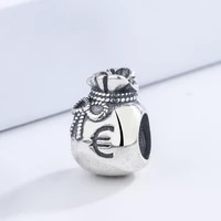 high quality classic lovely lucky little pocket shape silver plated diy bangle bead baby gift bracelet accessories for kids
