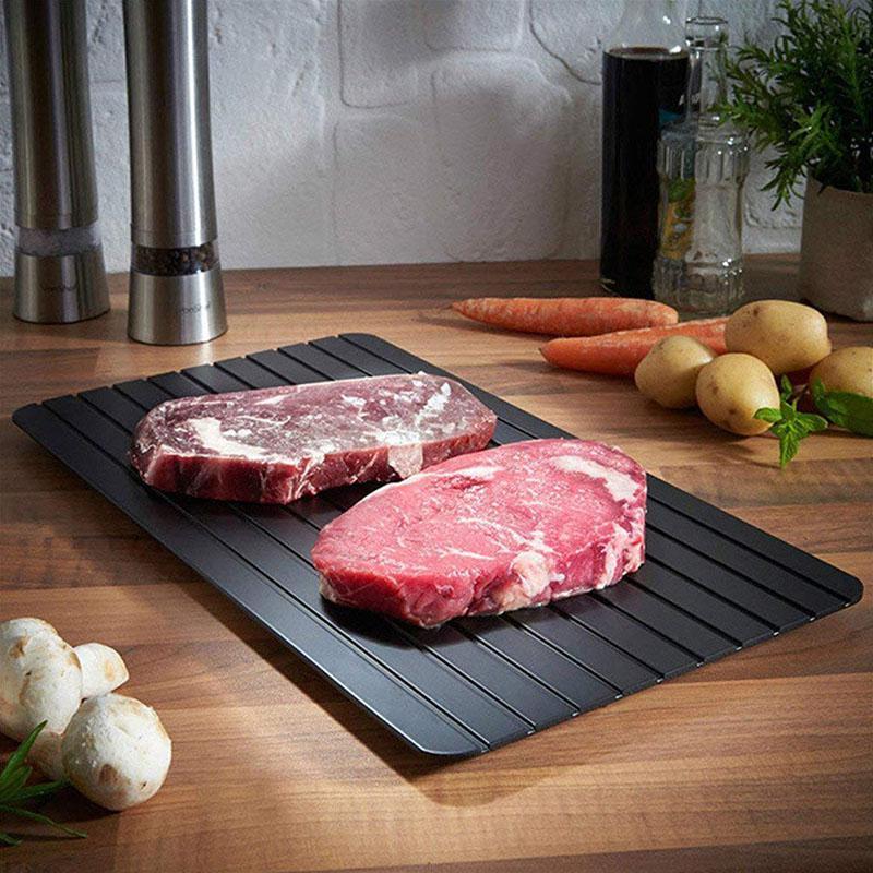 سريع إزالة الجليد صينية ذوبان الجليد طعام مجمد اللحوم الفاكهة سريعة إزالة الجليد ألواح مسطحة تذويب المطبخ أداة أداة