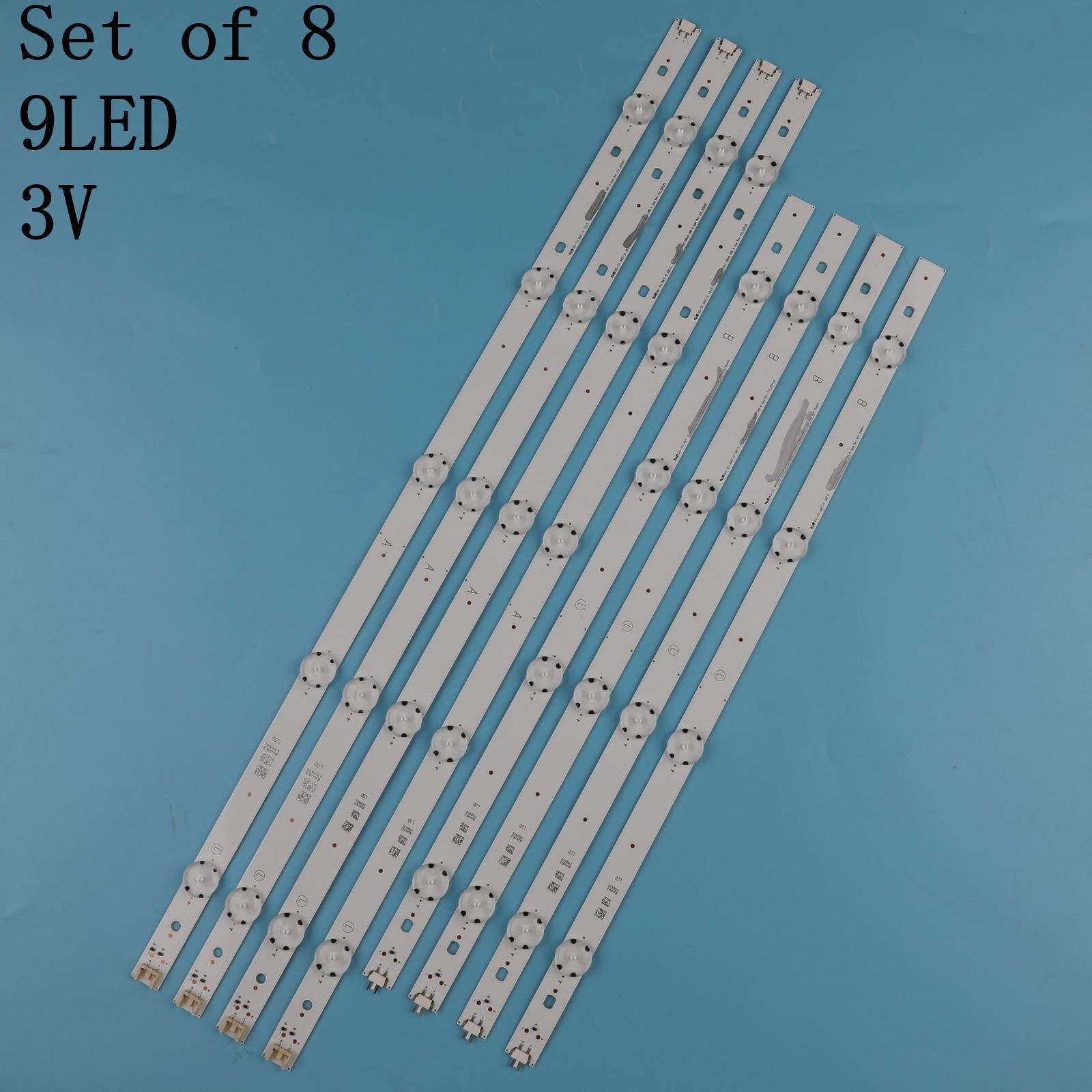 New 8 PCS LED backlight strip for LG 49UH610A 49UH6100 49lf5100 49UH6030 49UF640V 49UF6407 LGE_WICOP_49inch_UHD/FHD_REV05_A B