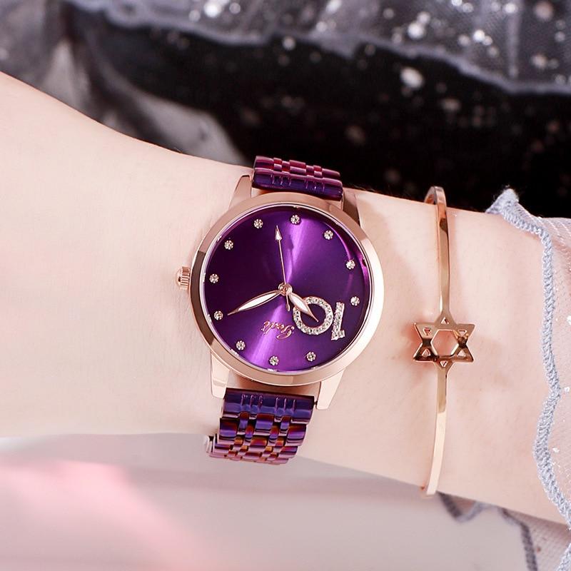 Hot Sales Watches Women Full Rhinestone Blink Blink Watch Ladies Diamond Watch Stainless Steel Waterproof Bracelet Wristwatches enlarge