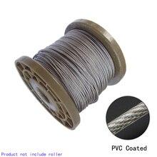 5 mètres 2/3/4/5/6mm 8mm diamètre acier PVC enduit câble Flexible câble Transparent 304 acier inoxydable corde à linge 7*7