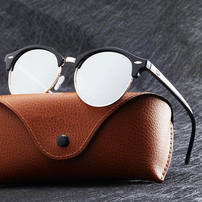 Модные Классические солнцезащитные очки в стиле панк ретро мужские женские круглые металлические солнцезащитные очки модные роскошные Бр...