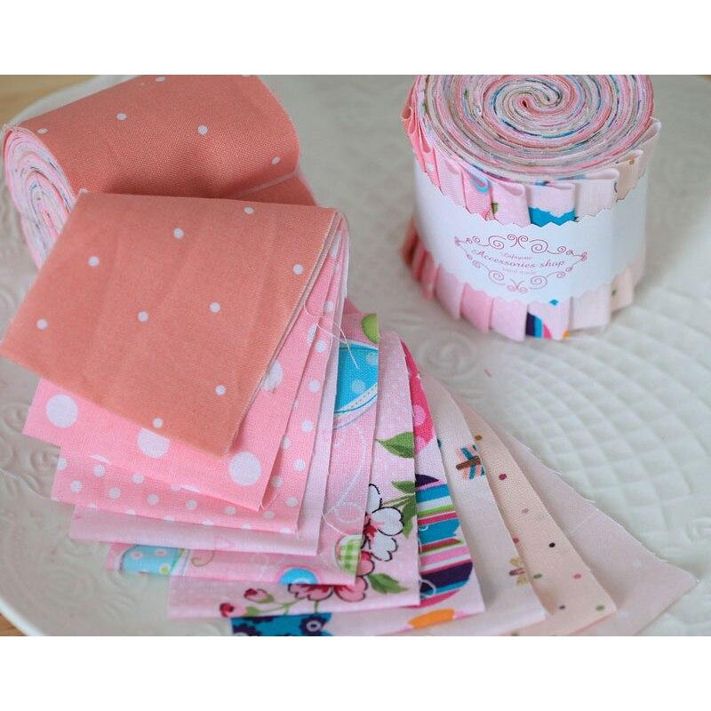 /Scrapbook tela de algodón Jelly Roll tiras Jelly Roll tela de tela Jelly Roll Patchwork tela 10 uds/rollo