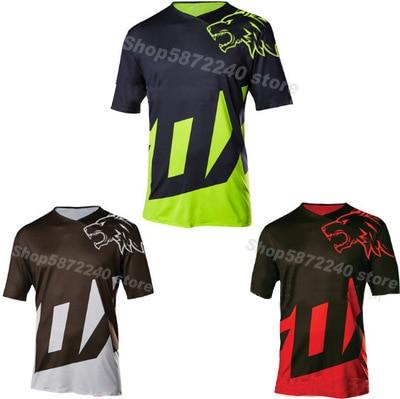2020 enduro bicicleta jerseys motocross bmx corrida camisa downhill dh manga curta ciclismo roupas mx verão raposa mtb camiseta