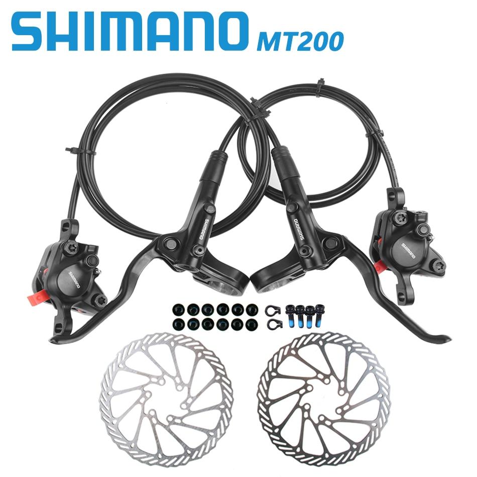 Shimano BR BL MT200 Bicycle Brake MTB Brake Hydraulic Disc Brake 750/800/1350/1450/1650mm Mountain Clamp Brakes upgraded MT315