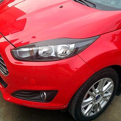 Carbon Fiber Headlight Eyelids Eyebrows for 2013-2015 Ford Fiesta
