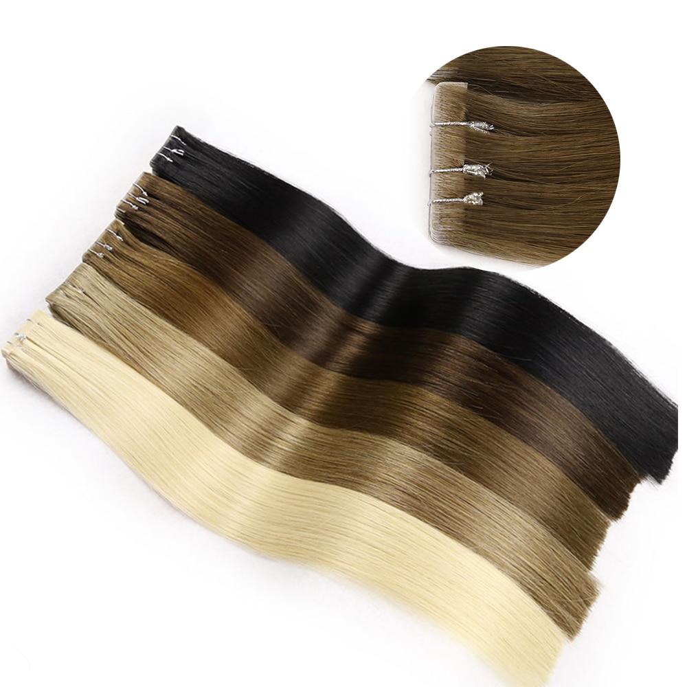 Toysww-وصلات شعر ريمي طبيعية ناعمة ، من 16 إلى 24 بوصة ، غير مرئية ، غير ملحومة ، 40 قطعة