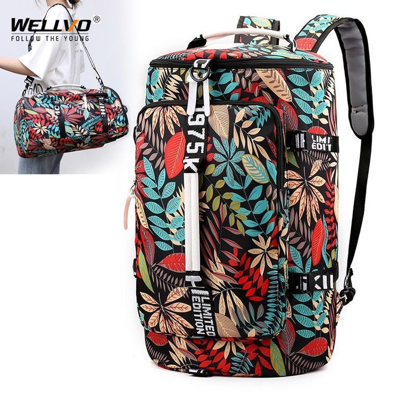 AliExpress - Large Travel Bucket Backpack Printing Moutaineering Bag Luggage Travel Duffle Carry On Rucksack Travelling Shoulder Bags XA107C