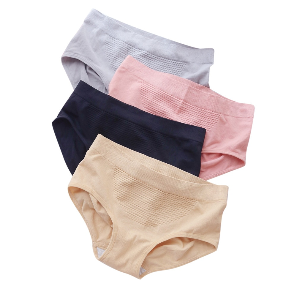 Sexy bragas ropa interior Mujer Otoño e Invierno panal sin costuras caliente corte tamaño grande vientre ropa interior femenina