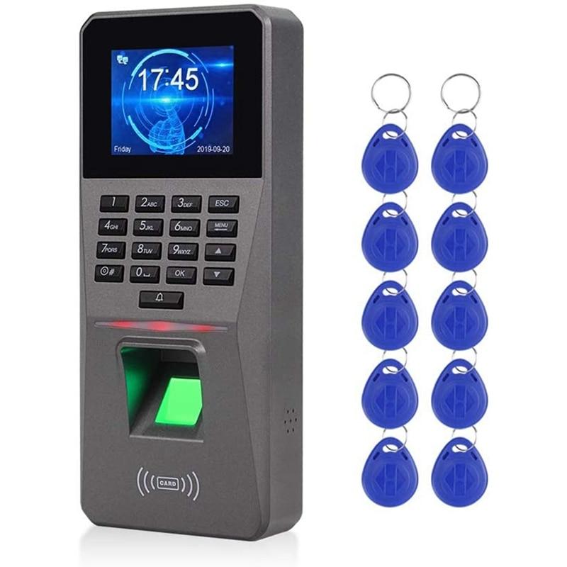 2.4 بوصة tcp/ip/USB البيومترية تتفاعل لوحة المفاتيح أنظمة تحكم في الدخول بالبصمة الإلكترونية على مدار الساعة جهاز حضور وانصراف