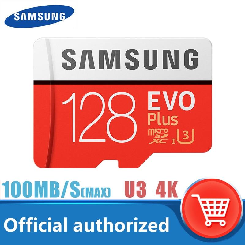 Original Samsung micro sd karte speicher Karte 128gb MAX100MB/s CLASS10 Sdxc U3 4k TARJETA micro sd tf flash karte Für smartphones
