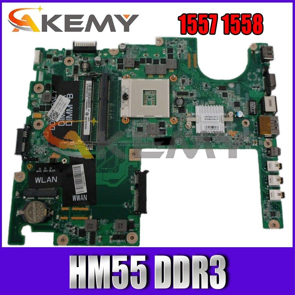 CN-0G936P 0G936P G936P اللوحة الأم ل ديل استوديو 1557 1558 اللوحة المحمول DAFM9BMB6D0 مع HM55 DDR3 100% اختبار بالكامل