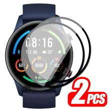 2pcs 9D Full Edge Protective Film For Xiaomi Mi Smart Watch Color Sports Screen Protector Cover Prot