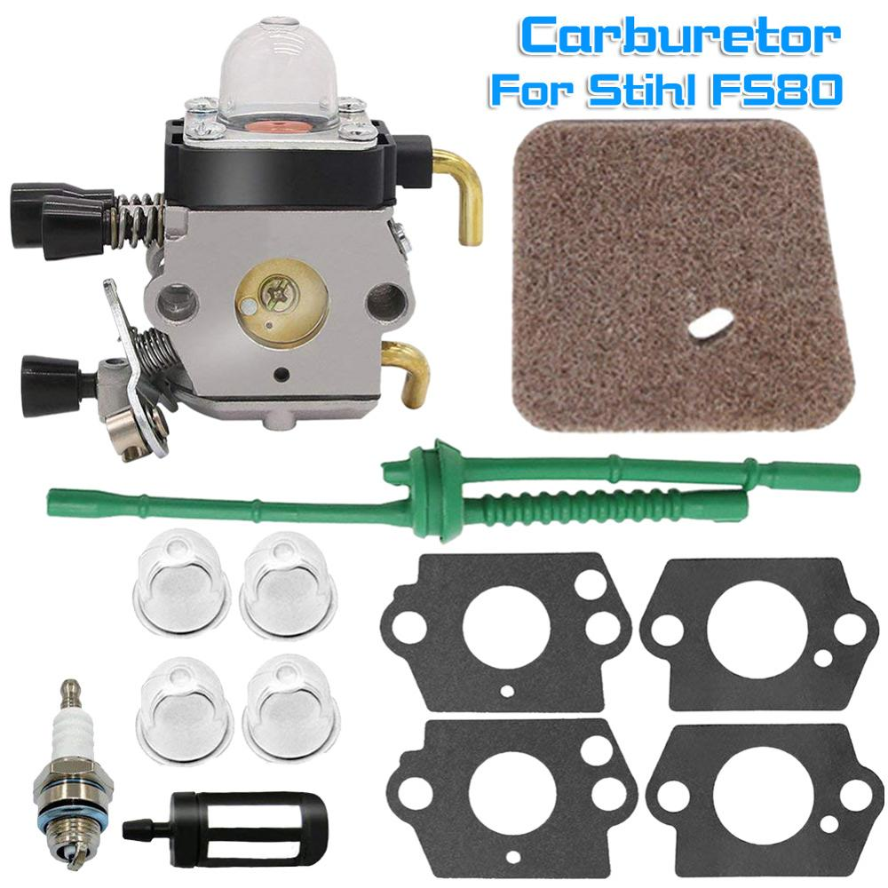 Kit de carburador adecuado para Steele FS80 /FC55 FC75 FC85 FS310 FS38 FS45 FS45C FS45L FS46 FS55 FS55RC FS55T FS74 FS75 FS76